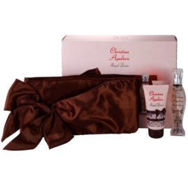 Christina Aguilera Royal Desire dárková sada III. parfémovaná voda 30 ml + tělové mléko 50 ml + kabelka