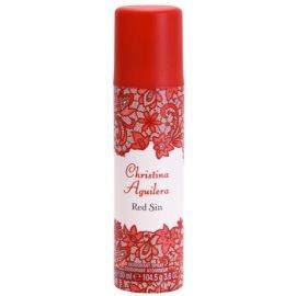 Christina Aguilera Red Sin deospray pro ženy 150 ml