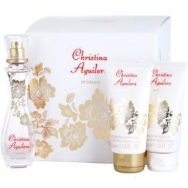 Christina Aguilera Woman Gift Set I.  Eau De Parfum 30 ml + Shower Gel 50 ml + Body Milk 50 ml