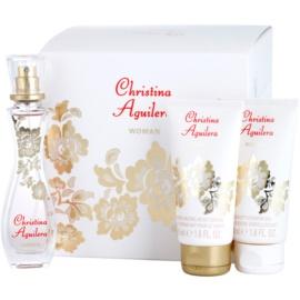 Christina Aguilera Woman Geschenkset I. Eau de Parfum 30 ml + Duschgel 50 ml + Körperlotion 50 ml