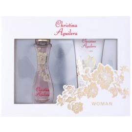 Christina Aguilera Woman lote de regalo II.  eau de parfum 30 ml + gel de ducha 50 ml