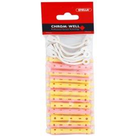 Chromwell Accessories Pink/Yellow natáčky na trvalou (ø 8 x 70 mm) 12 ks