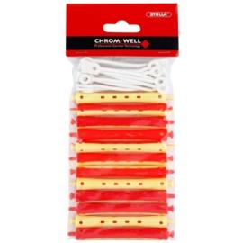 Chromwell Accessories Red/Yellow rodillos de la ondulación permanente (ø 9 x 91 mm) 9,1 cm