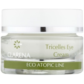 Clarena Eco Atopic Line Tricelles Regenerating and Moisturising Eye Cream with Three Kinds of Stem Cells For Very Sensitive Skin  15 ml