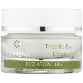 Clarena Eco Atopic Line Tricelles regenerierende und feuchtigkeitsspendende Augencreme mit drei Arten von Stammzellen für sehr empfindliche Haut  15 ml