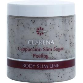 Clarena Body Slim Line Cappuccino exfoliant cu zahăr și cafea boabe pentru a îmbunătăți microcirculația și pentru a reduce celulita  250 ml