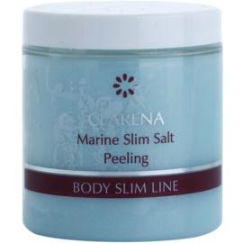 Clarena Body Slim Line Marine tělový peeling se solnými krystaly a bambuckým máslem s detoxikačním účinkem  250 ml