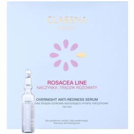 Clarena Medica Rosacea Nachtserum für empfindliche Haut mit der Neigung zum Erröten  10 x 3 ml