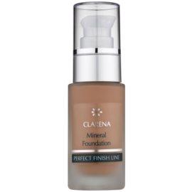 Clarena Perfect Finish Line Mineral минерален фон дьо тен за чувствителна и акнеозна кожа големи опаковки цвят Amber 30 мл.