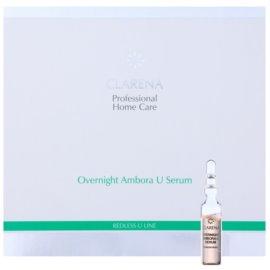 Clarena Redless U Line regenerierendes Nachtserum für empfindliche Haut mit der Neigung zum Erröten  10 x 3 ml