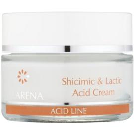 Clarena Acid Line Shicimic & Lactic Acid feuchtigkeitsspendende Anti-Falten-Creme zur Anwendung vor und nach einer Peeling-Behandlung  50 ml