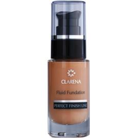 Clarena Perfect Finish Line Satin posvetlitveni fluidni tekoči puder za suho in občutljivo kožo odtenek Ivory  30 ml
