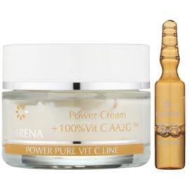 Clarena Power Pure Vit C Line krem do twarzy  przed pierwszymi oznakami starzenia + ampułka z witaminą C  50 ml