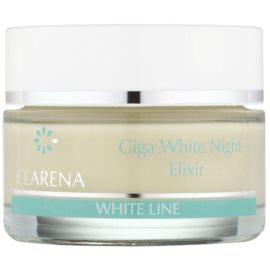 Clarena White Line Giga noční bělicí krém pro sjednocení barevného tónu pleti  50 ml