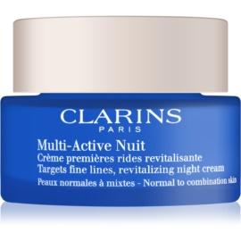 Clarins Multi-Active krem rewitalizujący na noc na drobne zmarszczki do cery normalnej i mieszanej  50 ml