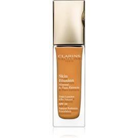Clarins Face Make-Up Skin Illusion maquillaje con efecto iluminador para un aspecto natural SPF 10 tono 117 Hazelnut  30 ml