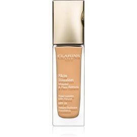 Clarins Face Make-Up Skin Illusion maquillaje con efecto iluminador para un aspecto natural SPF 10 tono 112 Amber  30 ml