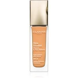 Clarins Face Make-Up Skin Illusion maquillaje con efecto iluminador para un aspecto natural SPF 10 tono 113 Chestnut  30 ml