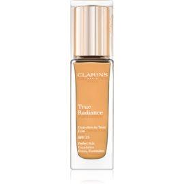 Clarins Face Make-Up True Radiance posvetlitveni in vlažilni tekoči puder za popoln videz SPF 15 114 Cappuccino  30 ml