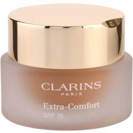 Clarins Face Make-Up Extra-Comfort világosító és fiatalító make-up a  természetes hatásért SPF 15 árnyalat 113 Chestnut  30 ml