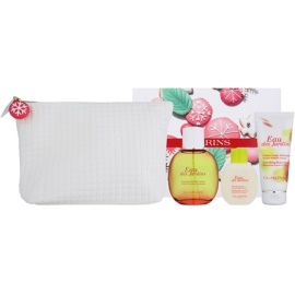Clarins Eau Des Jardins Gift Set I.  Eau de Fraiche 100 ml + Body Lotion 100 ml + Shower Gel 50 ml + Cosmetic Bag