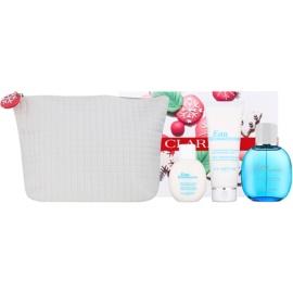 Clarins Eau Ressourcante dárková sada II.  osvěžující voda 100 ml + tělový krém 100 ml + sprchový krém 50 ml + kosmetická taška
