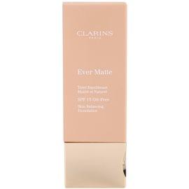 Clarins Face Make-Up Ever Matte matující make-up pro minimalizaci pórů SPF 15 odstín 107 Beige  30 ml
