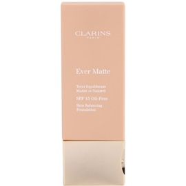 Clarins Face Make-Up Ever Matte matující make-up pro minimalizaci pórů SPF 15 odstín 110 Honey  30 ml