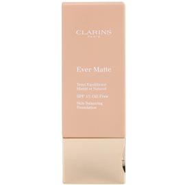 Clarins Face Make-Up Ever Matte matující make-up pro minimalizaci pórů SPF 15 odstín 113 Chestnut  30 ml