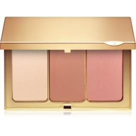 Clarins Face Make-Up arckontúr paletta ecsettel  13,8 g