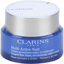 Clarins Multi-Active creme revitalizante de noite para suavizar as linhas finas de expressão para pele normal e seca  50 ml