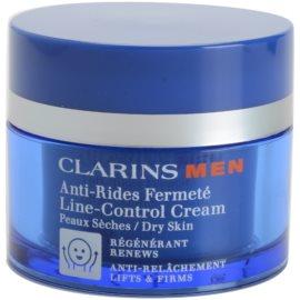 Clarins Men Age Control feszesítő ránctalanító krém száraz bőrre  50 ml