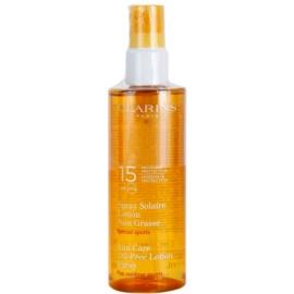 Clarins Sun Protection spray bronceador sin aceite para deportistas SPF 15  150 ml