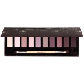 Clarins Eye Make-Up The Essentials 10 színt tartalmazó szemhéjfesték paletta  ecsettel  10 x 1,5 g