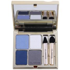Clarins Eye Make-Up Ombre Minérale dlouhotrvající oční stíny se zrcátkem a aplikátorem odstín 04 Indigo  5,8 g