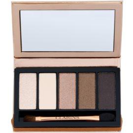 Clarins Eye Make-Up 5 Colour Eyeshadow Palette 5 színt tartalmazó szemhéjfesték paletta  árnyalat 03 natural glow 7,5 g