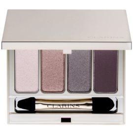 Clarins Eye Make-Up 4 Colour Eyeshadow Palette szemhéjfesték paletták árnyalat 02 Rosewood 6,9 g