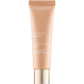 Clarins Pore Perfecting pórusösszehúzó mattosító make-up árnyalat 04 Nude Amber 30 ml