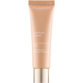 Clarins Pore Perfecting pórusösszehúzó mattosító make-up árnyalat 04 Nude Amber 30 ml