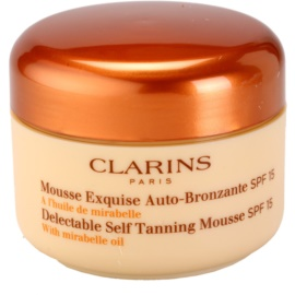 Clarins Sun Self-Tanners Delectable Self Tanning Mousse with Mirabelle Oil SPF 15 125 ml
