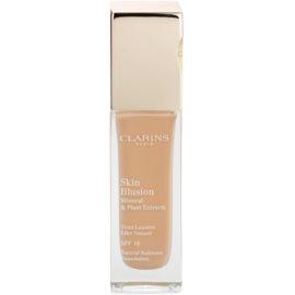 Clarins Face Make-Up Skin Illusion machiaj de stralucire pentru un look natural SPF 10 culoare 107 Beige  30 ml
