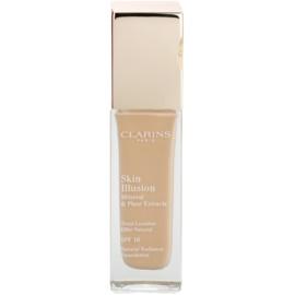Clarins Face Make-Up Skin Illusion machiaj de stralucire pentru un look natural SPF 10 culoare 108 Sand  30 ml