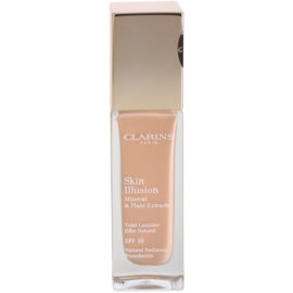 Clarins Face Make-Up Skin Illusion machiaj de stralucire pentru un look natural SPF 10 culoare 109 Wheat  30 ml