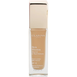 Clarins Face Make-Up Skin Illusion maquilhagem iluminadora para uma aparência natural SPF 10  tom 110 Honey  30 ml
