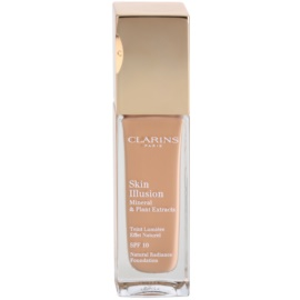 Clarins Face Make-Up Skin Illusion maquilhagem iluminadora para uma aparência natural SPF 10  tom 110.5 Almond  30 ml