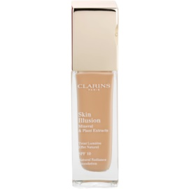 Clarins Face Make-Up Skin Illusion maquilhagem iluminadora para uma aparência natural SPF 10  tom 112 Amber  30 ml