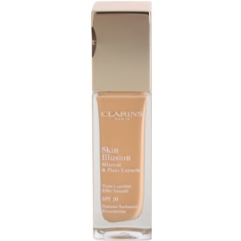 Clarins Face Make-Up Skin Illusion maquilhagem iluminadora para uma aparência natural SPF 10  tom 112.5 Caramel  30 ml