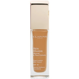 Clarins Face Make-Up Skin Illusion machiaj de stralucire pentru un look natural SPF 10 culoare 114 Cappuccino  30 ml