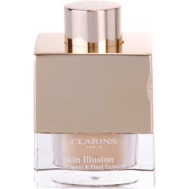 Clarins Face Make-Up Skin Illusion sypký pudrový make-up pro přirozený vzhled se štětečkem odstín 110 Honey  13 g