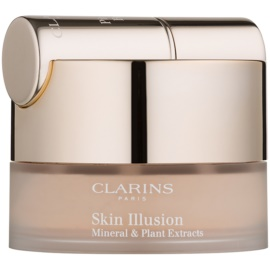 Clarins Face Make-Up Skin Illusion Puder-Make-up mit Pinselchen Farbton 107 Beige 13 g